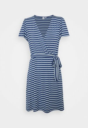 WRAP DRESS - Jerseykjole - blue