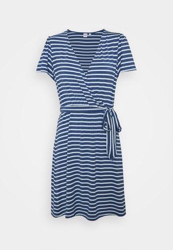 WRAP DRESS - Jersey dress - blue