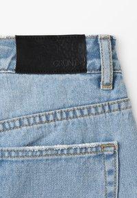 Grunt - WIDE LEG CROP  - Široké džíny - mid blue - 2