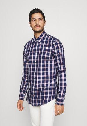 LARGE CHECK SHIRT - Shirt - navy/red/white
