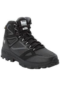Jack Wolfskin - DOWNHILL TEXAPORE - Hiking shoes - black / grey - 1