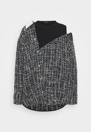 LACO - Button-down blouse - noir/blanc