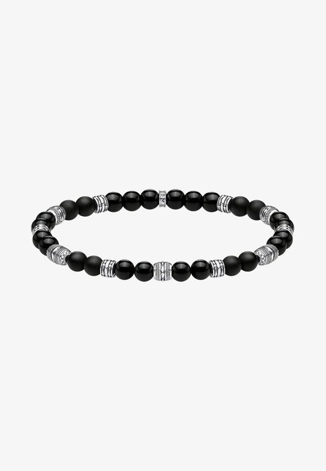 TALISMAN - Armband - black/silver-coloured