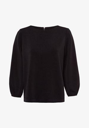 MIT U  AUSSCHNITT - Sweatshirt - black