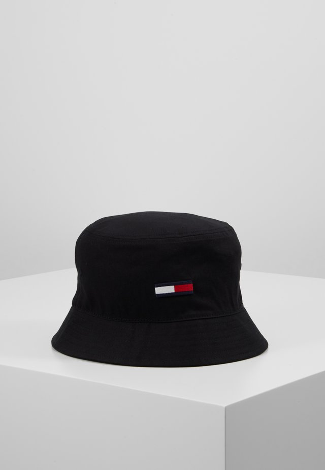 FLAG BUCKET HAT - Klobouk - black