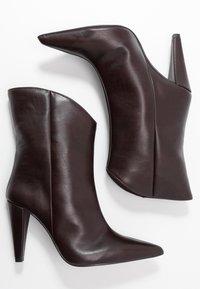 Topshop - VEGAN VILLA BOOT - High heeled ankle boots - burgundy - 3