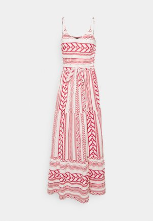VMDICTHE SINGLET ANCLE DRESS - Maxi dress - birch/dicthe/goji berry