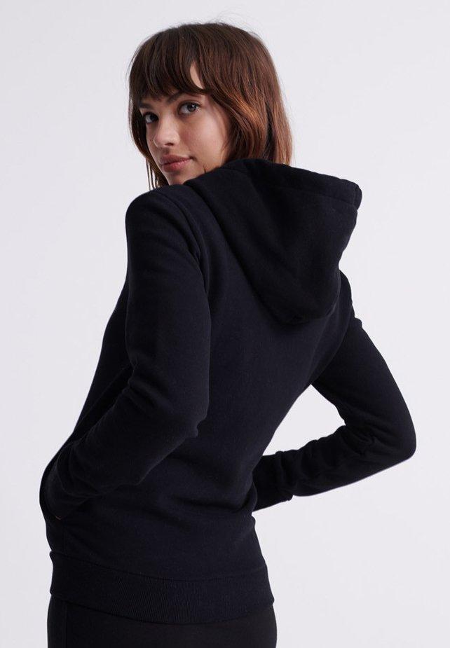 Superdry veste en sweat zippée - black