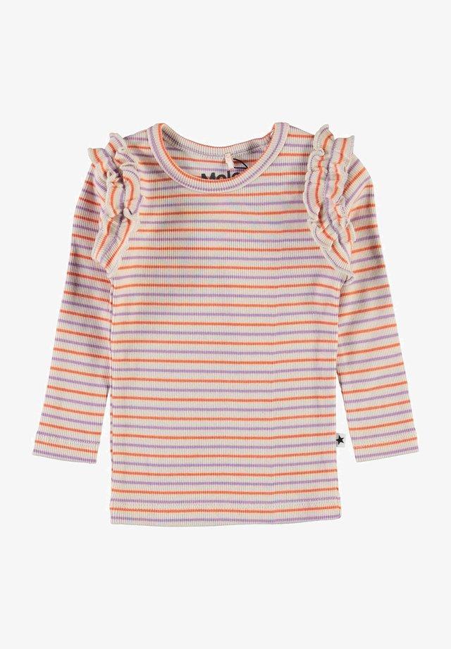 EMMA - Langærmede T-shirts - purple orange stripe