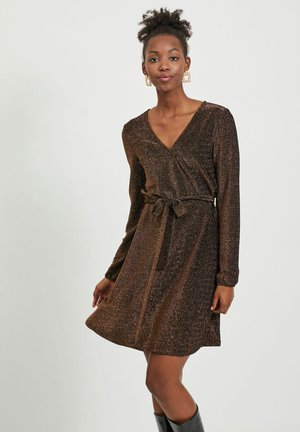 Cocktail dress / Party dress - tobacco brown