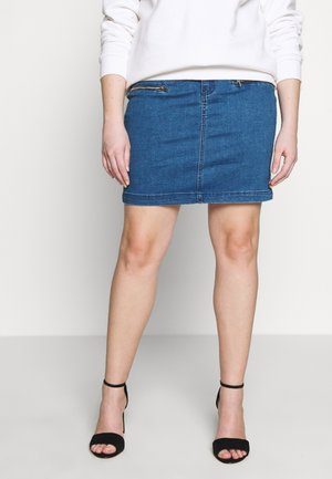 SUPERSTRETCH SKIRT - Denim skirt - stone blue denim