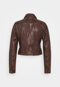 Freaky Nation - JUST FANCY - Leather jacket - tabacco - 1