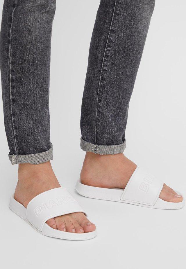 PANTOLETTE POOL - Sandály do bazénu - white