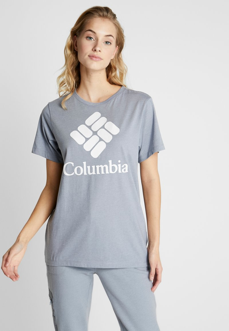 Columbia - PARK™ RELAXED TEE - Print T-shirt - treadwinds grey heather