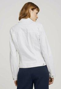 TOM TAILOR - MIT KNITTERDETAILS - Denim jacket - white - 2