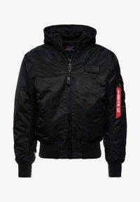 TEC BACKPRINT EXCLUSIV - Bomber Jacket - black/red