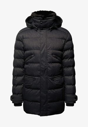 VALLEE - Winter coat - blackmelange