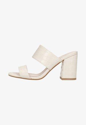MIT KROKOMUSTER - Sandalen met hoge hak - off-white
