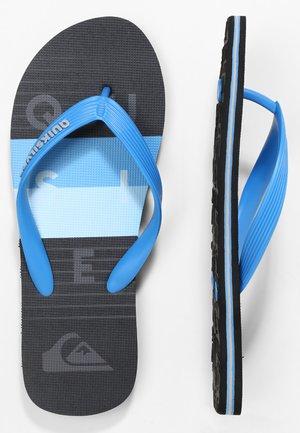 MOLOKAI WORD BLOCK - SANDALEN FÜR MÄNNER AQYL100986 - Pool shoes - blue/black/blue