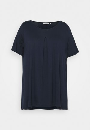 WITH PLEAT AT FRONT - Basic T-shirt - sky captain blue