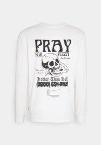 PRAY - UNISEX PIZZA LONG SLEEVE - Printtipaita - white - 1