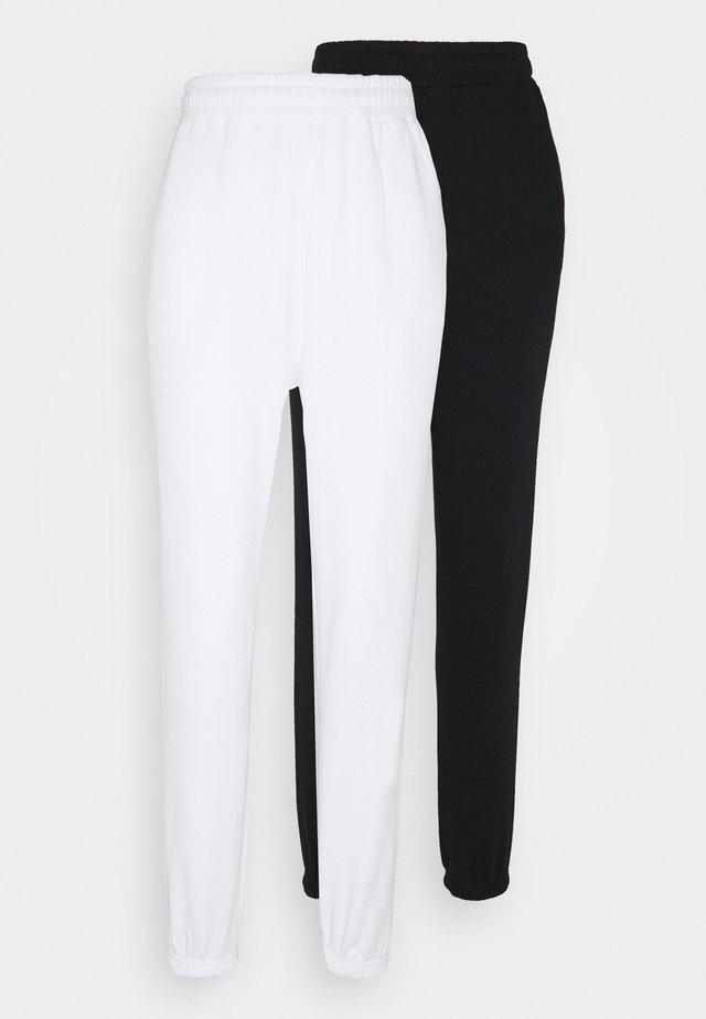 2 PACK - Loose fit Joggers - Pantaloni sportivi - black/white