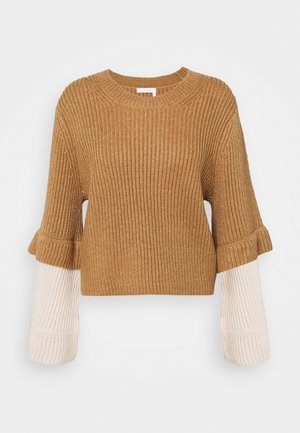 Jumper - brown/white