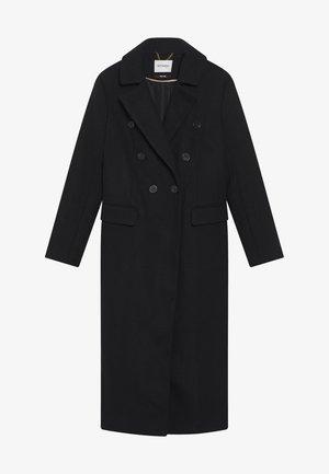 LANGER WOLLMANTEL - Klassischer Mantel - schwarz