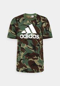 adidas Performance - CAMO - T-shirts print - khaki - 4