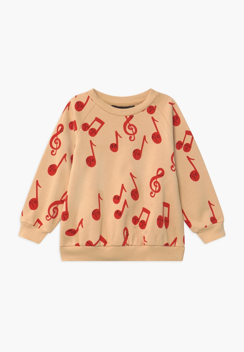 Mini Rodini - BABY NOTES AOP SWEATSHIRT - Mikina - beige