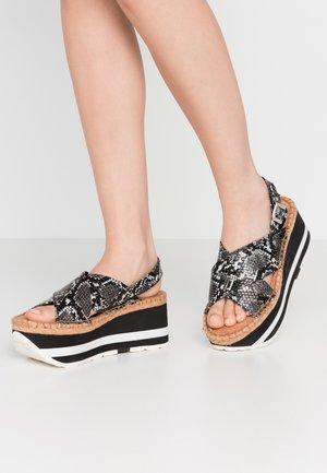 MYERS - Platform sandals - grey