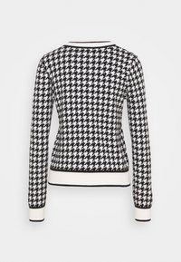 River Island - DOGTOOTH - Cardigan - black - 1