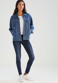 G-Star - MIDGE ZIP MID SKINNY  - Jeans Skinny Fit - neutro stretch denim - 1