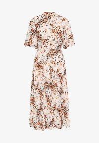 PLEATED DRESS - Vestido informal - cream/mult