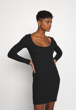 Vestito di maglina - black