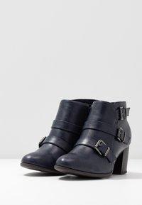 Wallis Wide Fit - WIDE FIT WREN - Ankle boot - navy - 4