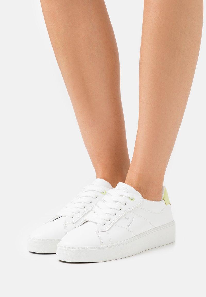 GANT - LAGALILLY - Trainers - bright white/yellow
