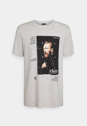 REGULAR FIT UNISEX - T-shirts print - light grey melange