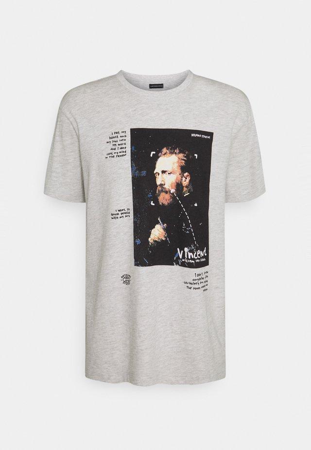 REGULAR FIT UNISEX - Print T-shirt - light grey melange