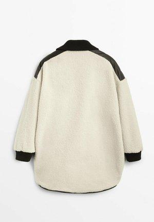 FLEECEMANTEL  - Outdoor jacket - beige
