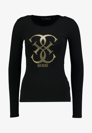 Long sleeved top - jet black