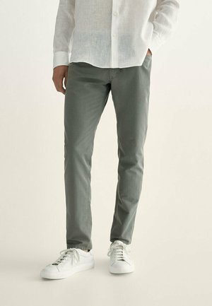 MIT KONTRASTEN  - Slim fit jeans - khaki