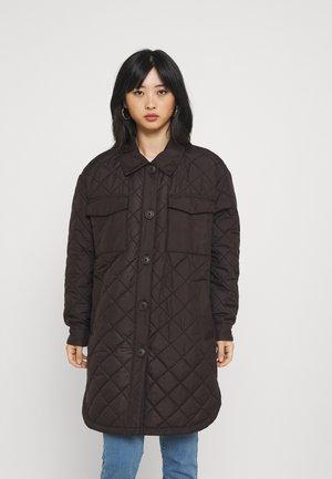 ONLTANZIA LONG QUILTED SHACKET - Short coat - black