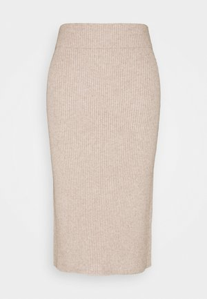 VIRIL PENCIL SKIRT - Falda de tubo - simply taupe/melange