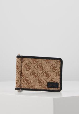 DAN LOGO MONEY CLIP CARD CASE - Punge - brown