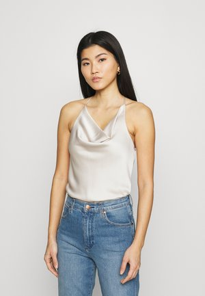 COWLNECK T STRAP BACK BODYSUIT - Top - cream