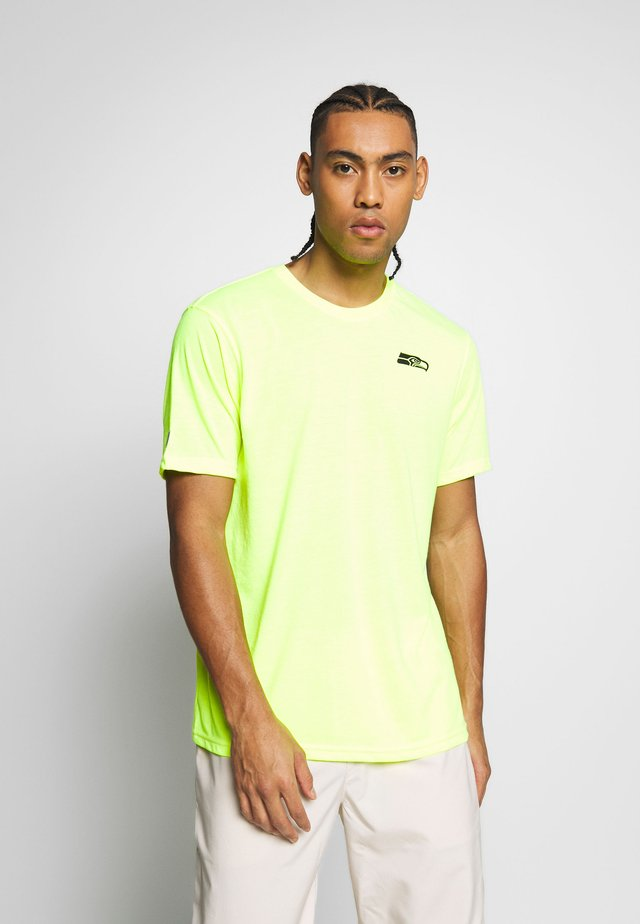 NFL SEATTLE SEAHAWKS SHORT SLEEVE - Pelipaita - neon yellow
