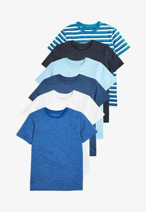 MULTI 6 PACK T-SHIRTS (3-16YRS) - Triko spotiskem - blue