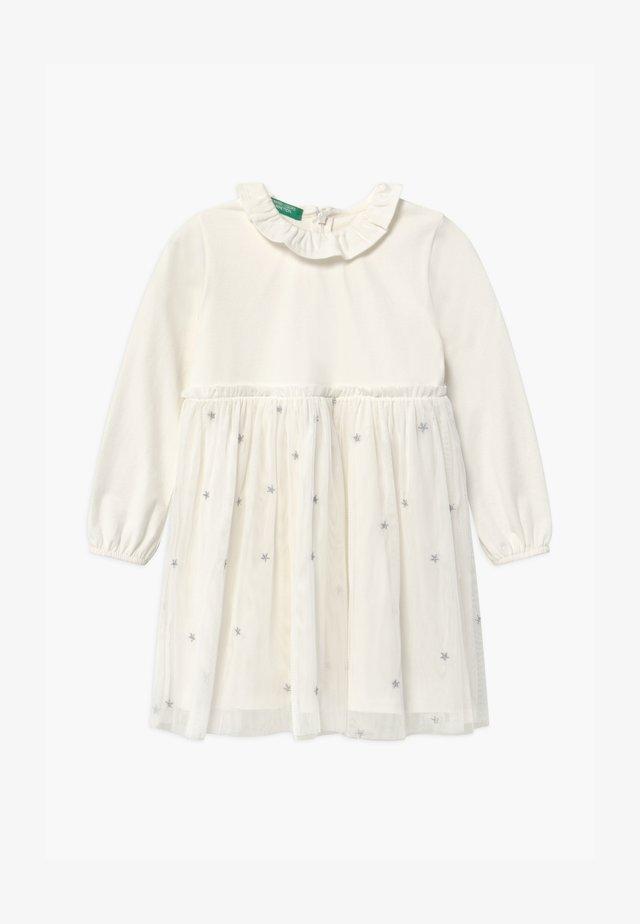 Jerseykleid - white