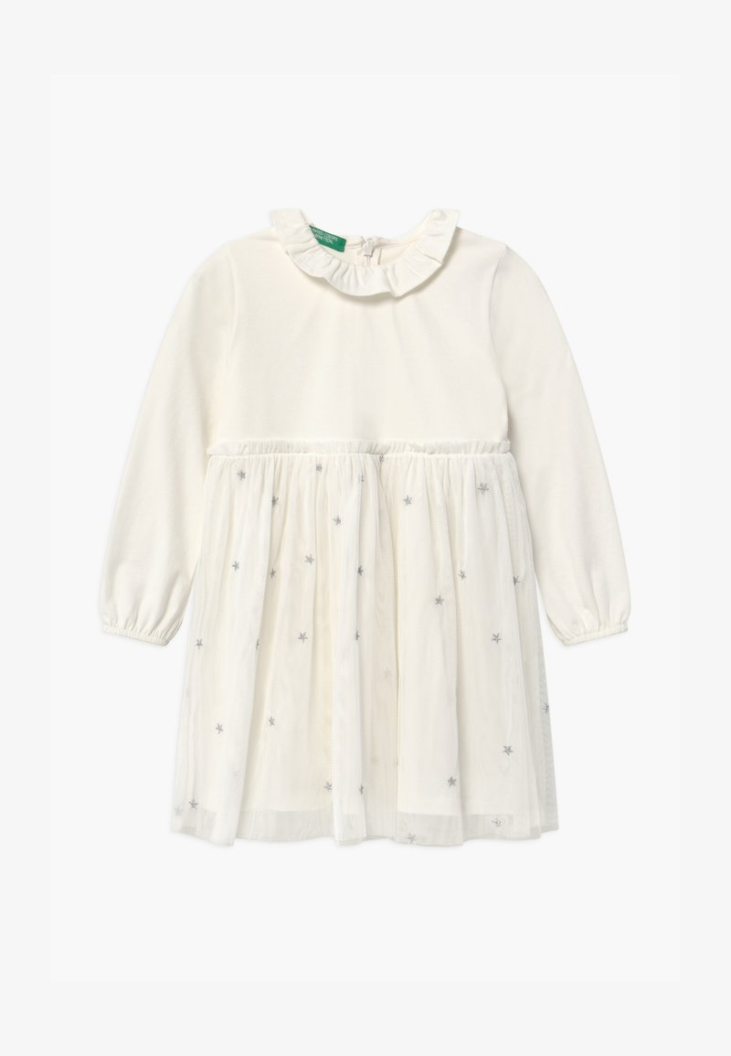 Benetton - Jersey dress - white